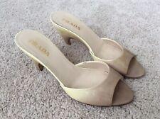 Women's Yellow Patent Prada Hombre Heels Pumps Shoes Size 35
