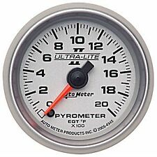 Auto Meter 4945 Ultra-Lite II Full Sweep Electric EGT Pyro Gauge 0-2000 Degrees