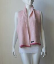 Coach Wool Blend Knit Women's Scarf Pink Used China