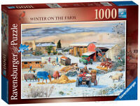 Ravensburger Winter On The Farm 1000 Piece Jigsaw Puzzle Brand New and Sealed