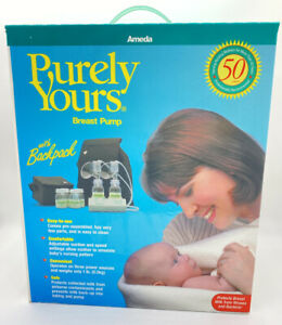 Ameda Purely Yours Breast Pump W/Backpack Double Electric VTG #17075P Old Stock