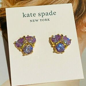 Kate Spade Purple zircon Stud Earrings