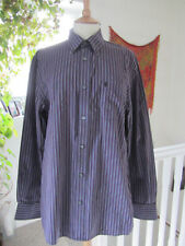 Jaeger Mens Black & Purple Long Sleeved 100% Cotton Shirt Great preloved cond.
