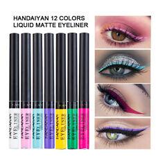 Matte Liquid Eyeliner 12 Colours Makeup Glitter Charming Long Lasting Waterproof