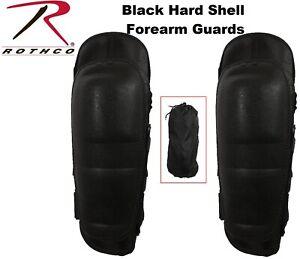 Black Hard Shell Tactical Protective Forearm Guards 3904 Rothco