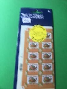 Scott#3546 -34 Cent We Give Thanks 1/2 Sheet of 10 Stamps MNH 2001(NIP)