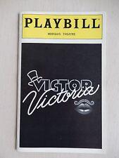 June 1997 - Marquis Theatre Playbill - Victor Victoria - Raquel Welch