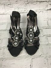 Next Women's Sandals Wedge Heel Black Open Toe Platform Size 7 US 9 (41)