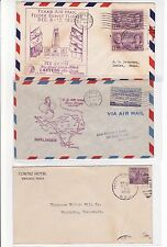 #776 Harlingen TEXAS 1937 Feeder Survey + Flight Cover + RPO Cover !!