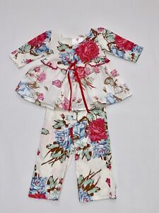 Mad Sky Boutique Floral Print Ruffled Swing Top w/Matching Pants Set, 12 mos.