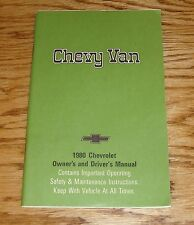 Original 1980 Chevrolet Chevy Van Owners Operators Manual 80