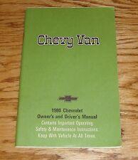 Original 1980 Chevrolet Chevy Van Owners Operators Manual 80