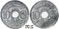 M5476 Rarissime 10 Centimes Lindauer Essai 1939 PCGS SP63 Db Revers SPLENDIDE