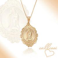 Maria Magdalena Kette, 750er Gold 18K echt vergoldet Callissi Damen Schmuck