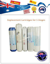 5 Replacement Cartridges for 5 Stages Water filter System