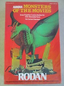 VINTAGE 1975 MONSTERS OF THE MOVIES RODAN MODEL KIT IN BOX AURORA #657 GODZILLA