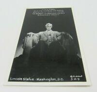 Lincoln Statue Washington DC Vintage Unused Black White Real Photo Postcard