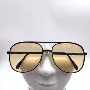Vintage Luxottica Stuart Black Metal Aviator Sunglasses Italy FRAMES ONLY