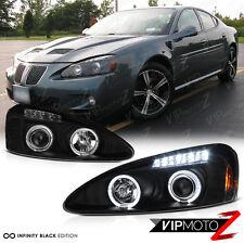 Black Halo Angel Eye Projector Headlight 04-08 Pontiac Grand Prix GT1 GT2 GTP