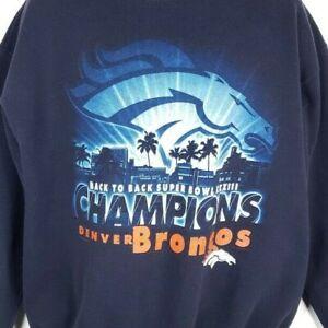 Denver Broncos Sweatshirt Vintage 90s 1999 Super Bowl XXXIII Made In USA Large