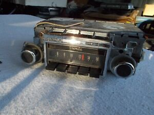 1971 Buick Skylark Delco AM Radio W/Knobs/Fader GS 455 350 Extra Clean UNTESTED