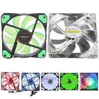 3-4Pin 120mm 15 LED Light Neon Quite Clear Fans PC Computer CPU Cooling Case Fan