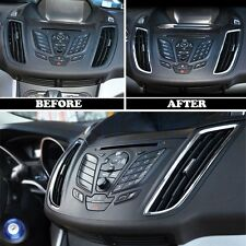2x Chrome Side Dashboard Air Vent Cover Trim for 2013-2017 Ford Kuga Escape CG