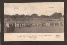 More details for football match action-england v scotland. trimulgherry may 1907.