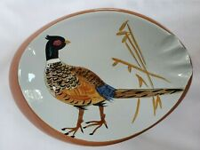 Vintage Stangl Pottery Cigar Ash Tray Hand Painted Pheasant