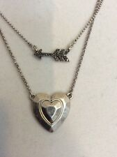 LUCKY BRAND NECKLACE 2 STRANDS,  Heart & Arrow  Y131a