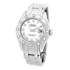 ROLEX 18K White Gold Pearlmaster Masterpiece Factory Diamonds 80319 Box Warranty