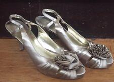 Nine West Womens Slingback Satin Evening Dress Heel 12M