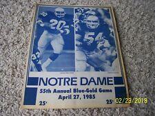 1985 Notre Dame Fighting Irish Football Blue Gold Game Program