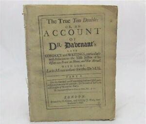 1704 Pamphlet CHARLES DAVENPORT True Tom Double