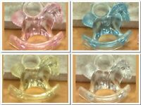 "Mini Acrylic 1"" ROCKING HORSE CHARM Baby Shower Choose Color & Pack Amount"