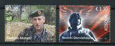 Kosovo 2017 MNH Soldiers Martyrs Ahmeti & Dervishdana 2v Set Military Stamps