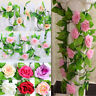 Artificial Rose Flower New Garland Hanging Fake Silk Decor Fashion Ivy Vine Lot