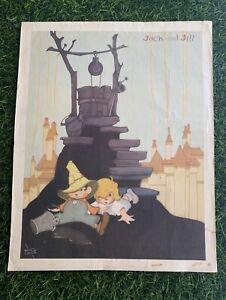 Vintage Nursery Rhyme Print Kellogg's Jack And Jill 1938 - Vernon Grant VGC