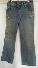 I.N.C. Petite Cropped Denim Jeans With Gold Floral Embellished Detail (2P)