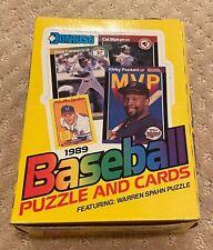 1989 Donruss Baseball Cards Wax Box 36 count Feat. Warren Spahn Puzzle