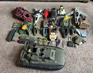 Lot of 1980's G.I. Joe Vehicles and Parts Killer Whale Etc...
