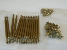 (A1.27) DOLLS HOUSE METAL BRONZE COLOURED STAIR ROD SET