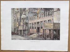 1878 print CHOIR OF ST MARK'S BASILICA, VENICE (#13)