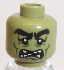 Lego Monster Frankenstein Head x 1 Olive Green for Minifigure