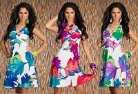 Vestito Abito Donna Miniabito SWEET MISS Vestitino al Ginocchio B044 Tg M L XL