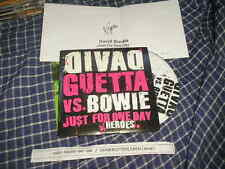 CD pop David Guetta-vs David Bowie: Just for One Day (1 chanson) promo virgin