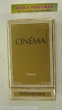 CINEMA YSL YVES ST LAURENT WOMEN PURE PARFUM SPLASH 0.5/ .5 OZ/ 15 ML NEW IN BOX