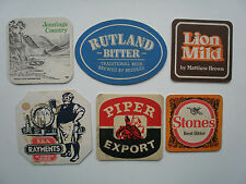 SIX BEERMATS FROM THE 1970S- 80S RUTLAND RAYMENTS JENNING'S PIPER LION STONES