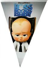 BOSS BABY BIRTHDAY PARTY FLAG BANNER BUNTING  - PARTY SUPPLIES PARTY DECORATION