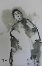 "JOSE TRUJILLO Large Acrylic Painting ABSTRACT Figure 26x40"" Home Decor Art"